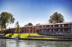RIVERSIDE VIEW OF BEST WESTERN HOTEL FOR SALE IN MICHIGAN