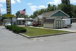 Exterior of motel for sale in Wyoming